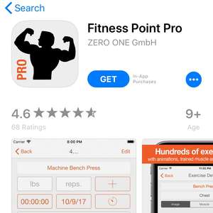 Fitness Point Pro ( Male and Female editions) free on iOS
