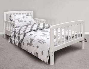 Kinder Valley 7 Piece Toddler Bed Bundle - Includes Bed, Mattress, Beautiful Bedding & More £107.94 delivered at Tesco Direct