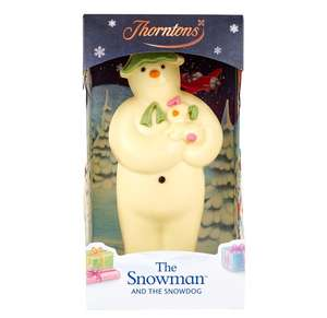 Snowman chocolate model 3 for £5 at Thornton's