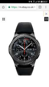 Samsung gear s3 frontier ( grade A refurbished ) £229.99 -  Argos on eBay