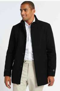 M&S - Funnel Neck Coat with Wool only £21.99, free pickup from store