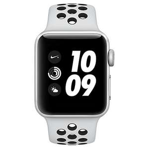 Apple Watch Series 3 Nike+ 38mm Silver Aluminium Case with White and Black Sports Band £299 John Lewis