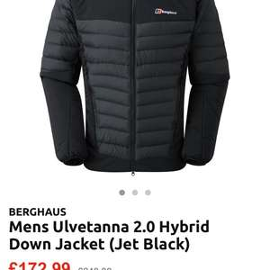 Berghaus jacket £172.99 at 	sportpursuit.com