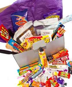 Large Retro Sweets 'Happy Birthday' Box Hamper - Full of the Best Retro Sweets £3.86 @ Amazon (Add on item)