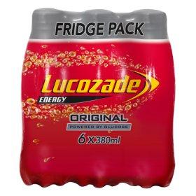 Lucozade Energy Original Fridge Pack 6x380 - £2 @ ASDA