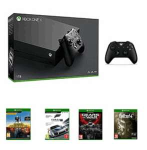 Xbox One X + PUBG Download + Forza Motorsport 7 + Xbox One Wireless Controller Black + Gears of War Ultimate Edition + Fallout 4 £474.99 at GAME