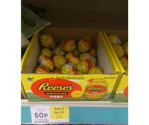 Reeses eggs 3 for £1 @ tesco
