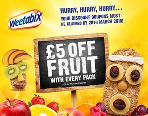 Buy Weetabix Original and Get £5 off Fresh Fruit