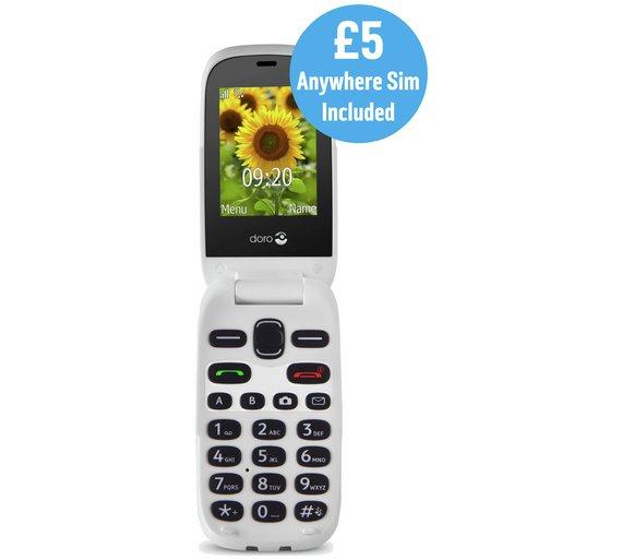 Sim Free Doro 6030 Flip Mobile Phone £49.95 @ argos.