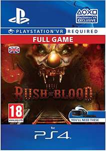 Until Dawn: Rush of Blood [PS4 PSVR PSN Code - UK account]  £6.49 Amazon - PS4 Code Far Cheaper Than Physical Copy