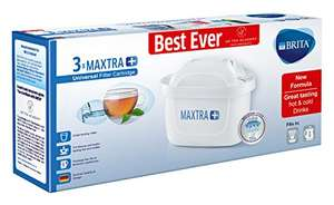BRITA Maxtra+ Water Filter Cartridges, White, Pack of 3 (UK Version) £13.35 (Prime) / £17.34 (non Prime) at Amazon