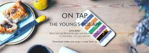 It's back! Free boozy drink (no purchase required) at Young's pubs when downloading the Youngs on Tap app