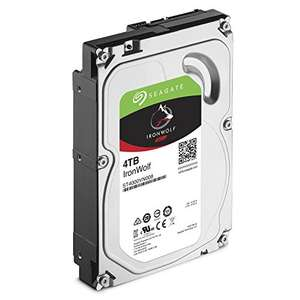 Seagate IronWolf 4 TB 3.5 inch Internal Hard Drive for 1-8 Bay NAS Systems (5900 RPM, 64 MB Cache up to 6.0Gb/s, 180 TB/Year Workload Rate) £99.98 Amazon
