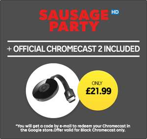 Update 26th Jan: Chromecast + Sausage Party HD (Rental) £21.99 @ Rakuten TV