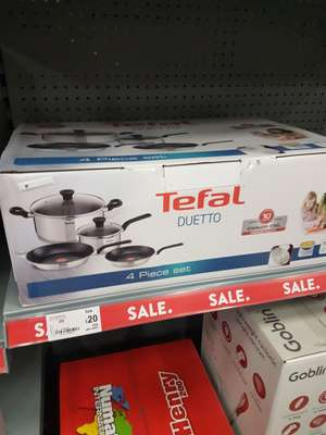 Tefal duetto 4 piece set £20 instore @ asda Merry Hill