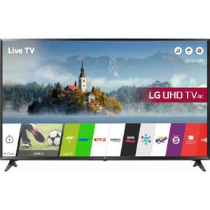 "lg 49UJ630V 49"" Freeview Freesat HD and Freeview Play Smart 4K Ultra HD with HDR TV - Black £369 with code at ao.com"