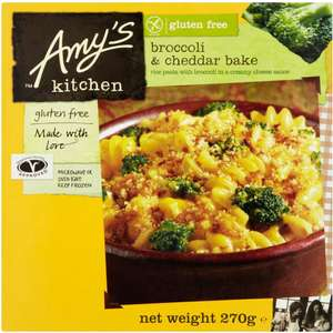 Amy's Kitchen broccoli & Cheddar bake (270g) + Other Meals and Burgers was £3.50 now £2.50 @ Waitrose