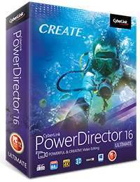 PowerDirector 16 Ultimate £52.99 @ Cyberlink