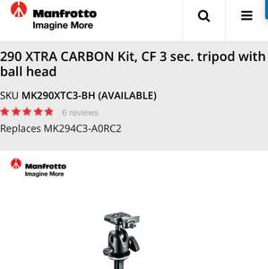Manfrotto 290 carbon with ball head £149.95
