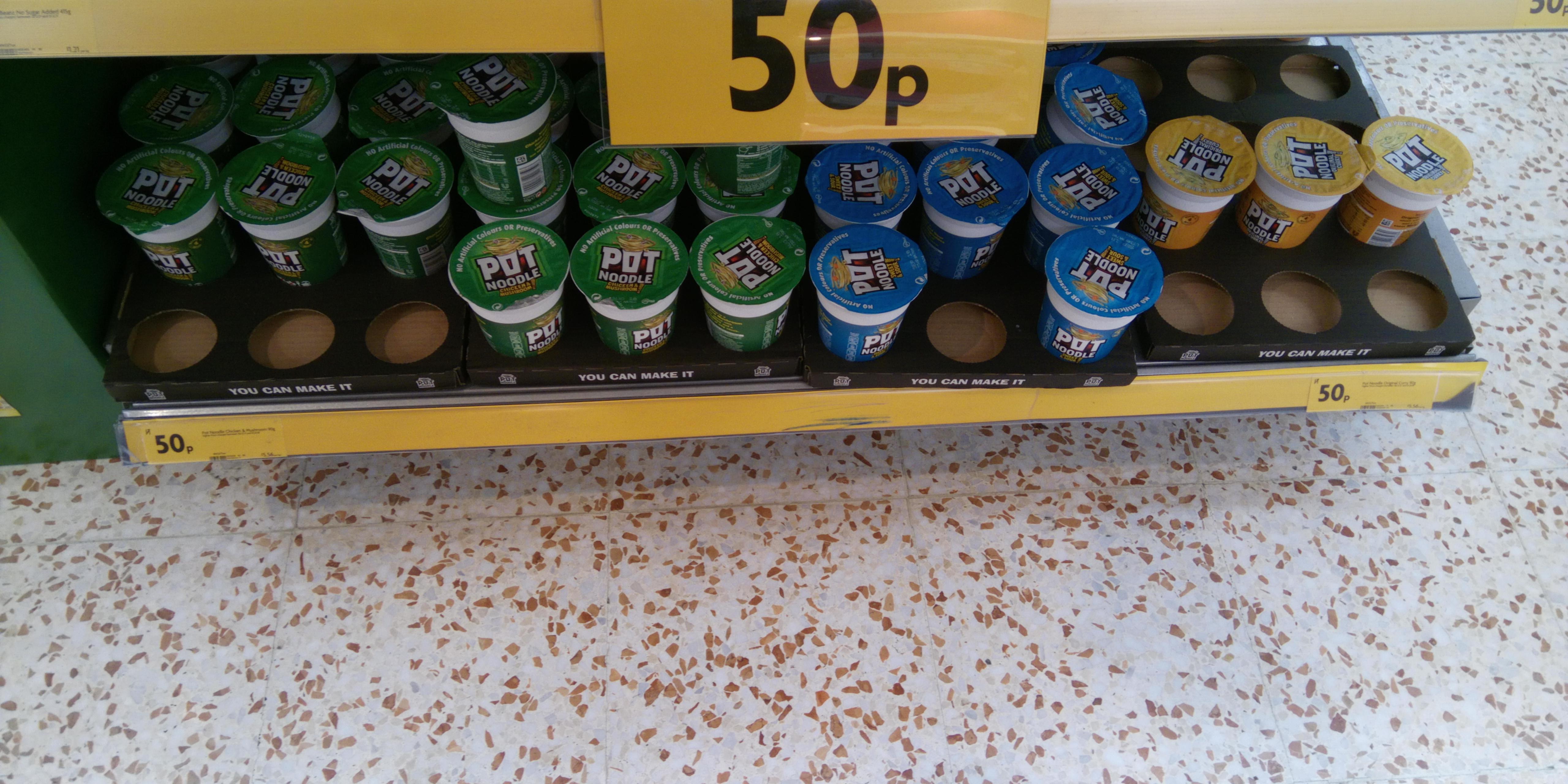 Pot Noodle - All flavours 50p @ Morrisons Instore & Online