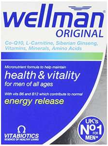 Wellman Vitabiotics Original £2.98 - 30 Tablets Amazon S&S £2.98 @ Amazon