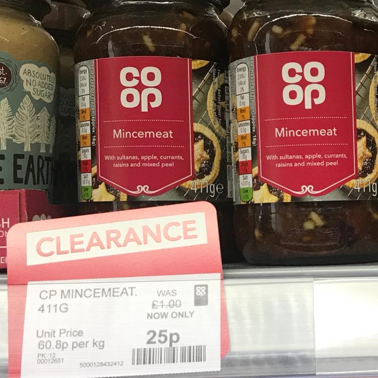 Co-op mincemeat - instore (Leeds) - 25p