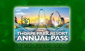 THORPE PARK RESORT ANNUAL PASS £53.50