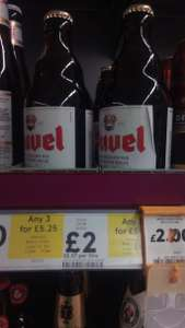 Duvel Belgian Ale -  instore & online @ Tesco  £1.75 each for 3