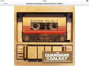 Guardians of the Galaxy: Awesome Mix Vol.1 on Vinyl *Amazon Prime* £14 Prime (£15.99 non Prime) @ Amazon