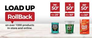 Asda Roll back Heinz beans 50p, Pot noodle 50p, Cup a Soup 50p and many more deals instore & online