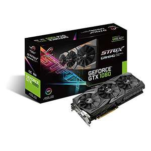 ASUS GeForce GTX 1080 8GB ROG STRIX Graphics Card (STRIX-GTX1080-8G-GAMING) at Amazon France for £329.71