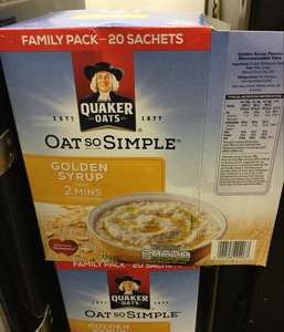 Quaker oat so simple 20 pack  2 for £3