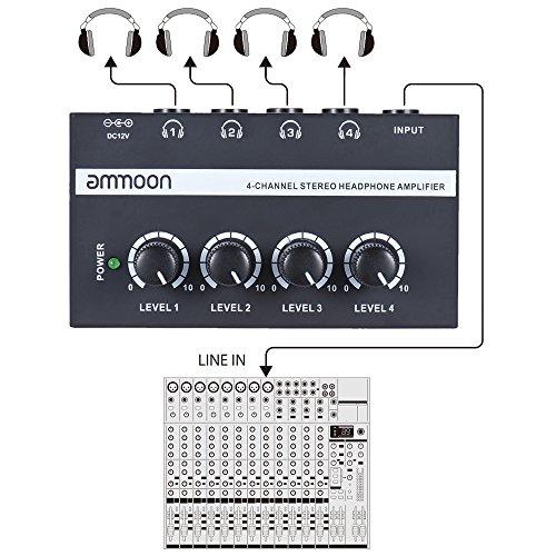 4 Channels Mini Audio Stereo Headphone Amplifier (Prime free delivery) for £14.28 (£17.27 non Prime)