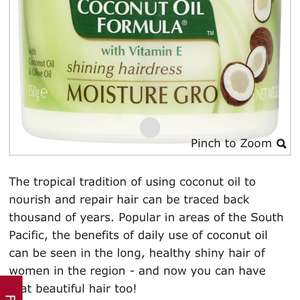 Palmers Coconut Oil Moisture Gro 150g at Wilko for £2