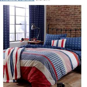 Stars and stripes double fitted sheet at Argos for £3.30