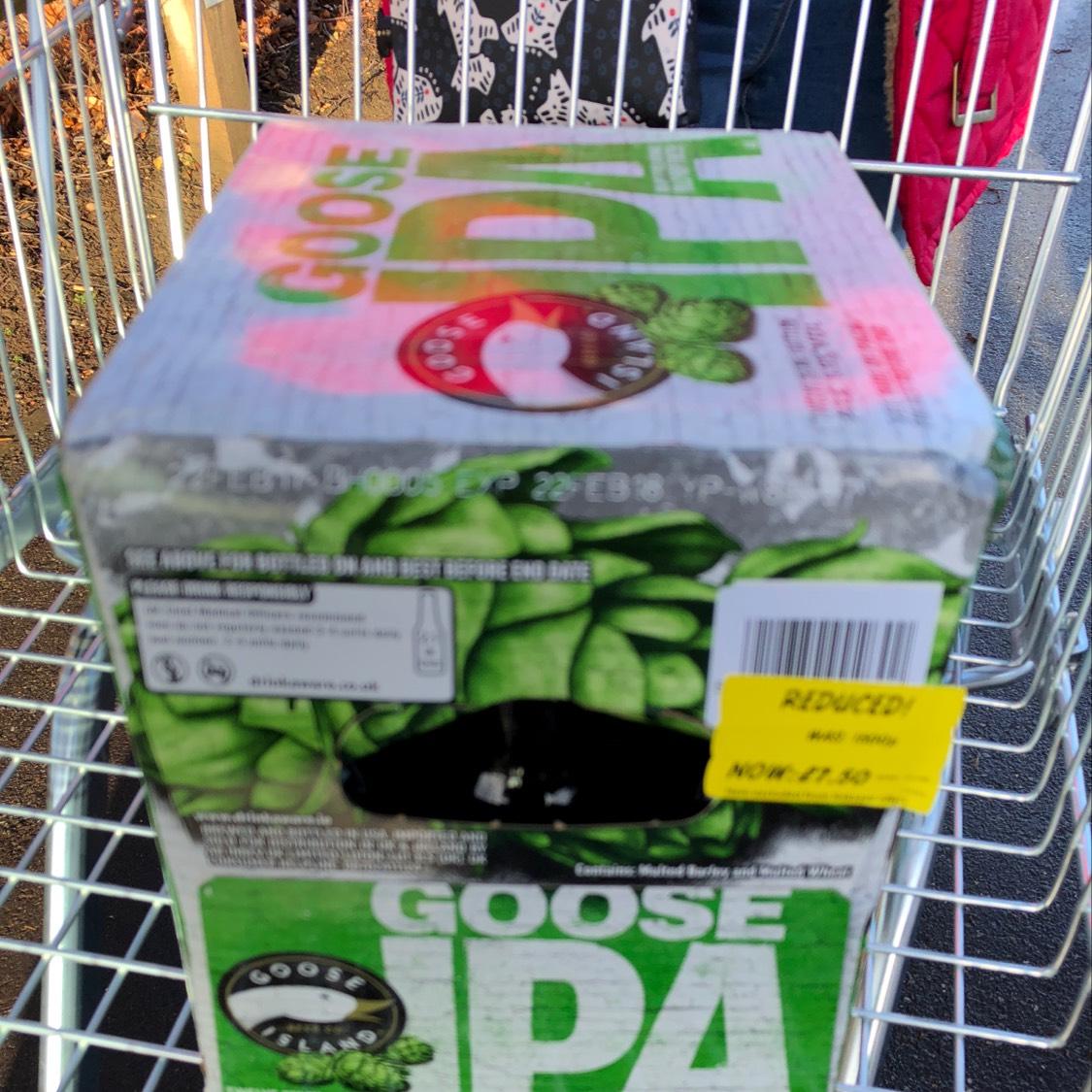 Goose IPA in Asda 12 bottles £7.50 intore - Grantham