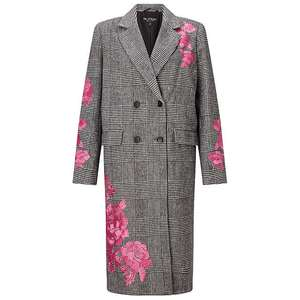Miss Selfridge Embroidered Checked Duster Coat - £28 @ John Lewis / £2 C+C or £3.50 delivery - sizes 10, 12 and 14 available
