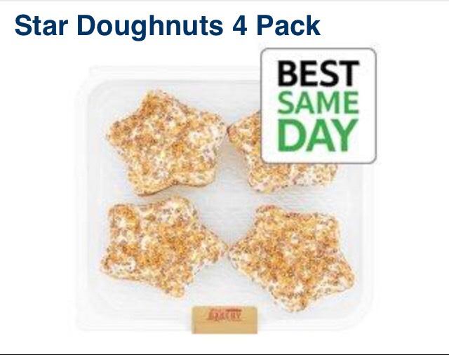 Tesco bakery star doughnuts 25p instore