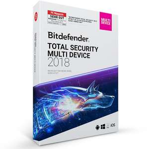 Bitdefender Total Security Multi Device 2018 – 5 PC | 1 year (MAC, Windows & Android) £19.13