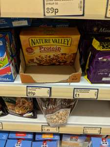 Nature Valley protein Bars £0.89 4 pack at poundstretcher