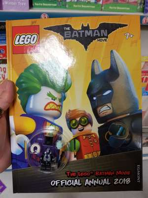 Lego Batman Movie Annual 2018 with penguin figure - £1 instore @ Poundland