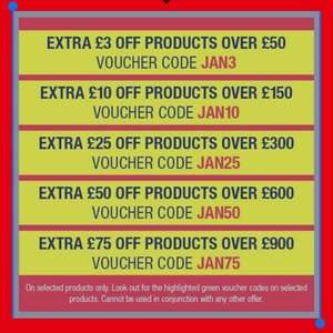 Hughes discount codes e.g extra £3 off £50 spend others in OP