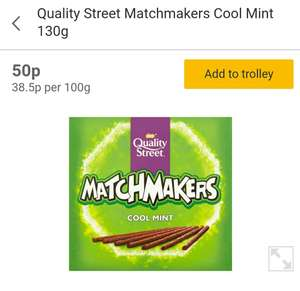Nestle Quality Street Matchmakers - Cool Mint 130g 50p @ Morrisons