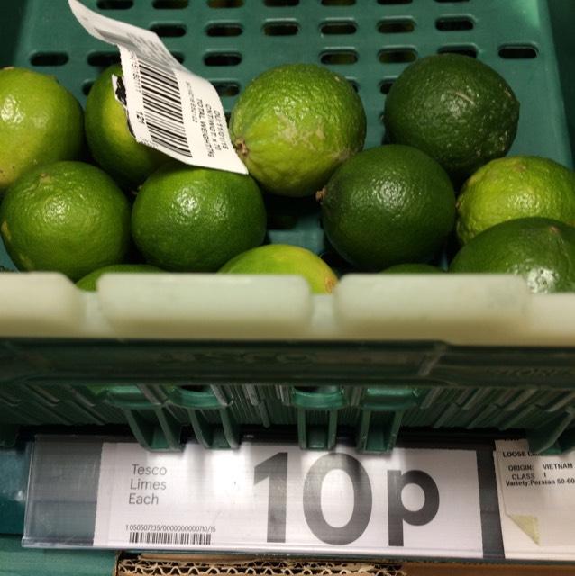 Limes 10p a pop - Tesco - Hexam