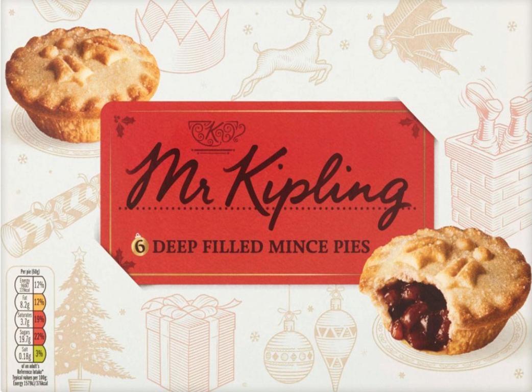 Mr.Kipling, six Merry Mince Pies only 25p at Asda Bideford