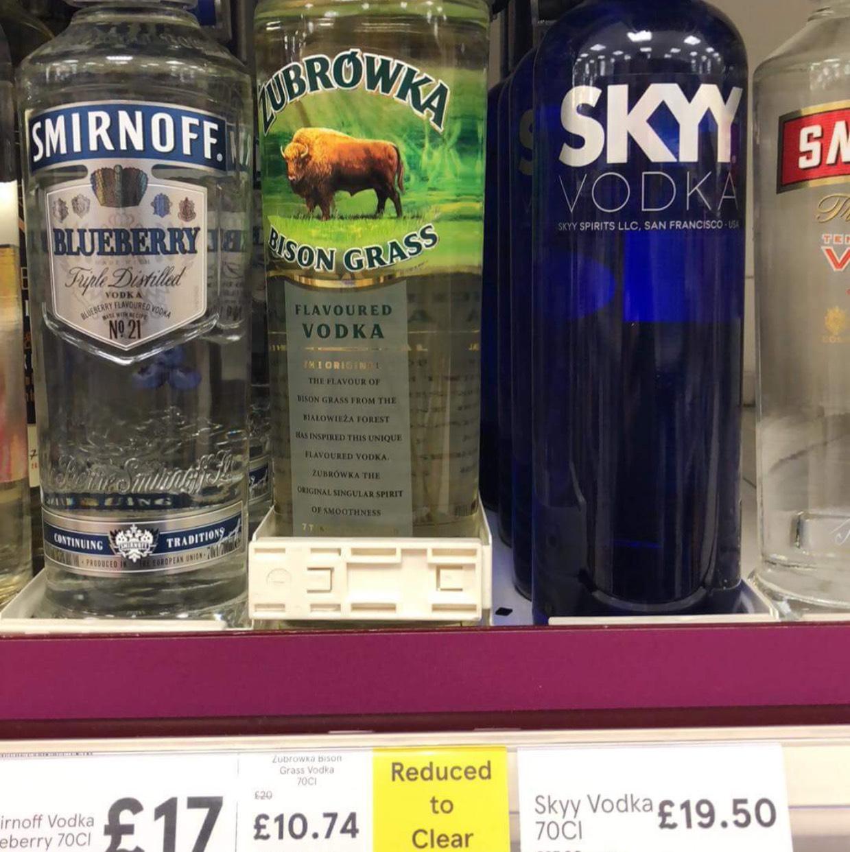 Zubrowka bison grass vodka 70cl RTC £10.74 @ Tesco instore