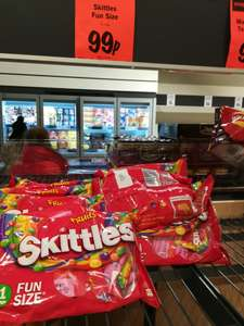 11 x fun size bags of Skittles 99p @ Lidl