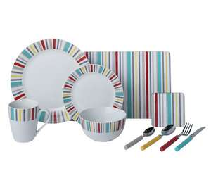 Half Price - ColourMatch 40 Piece Porcelain Dinner Starter Set - Striped £23.99 @ Argos