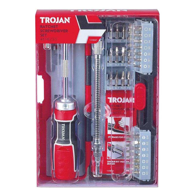 Trojan Ratchet Screwdriver Set - 43 piece £15.98 down to £7 @ Homebase