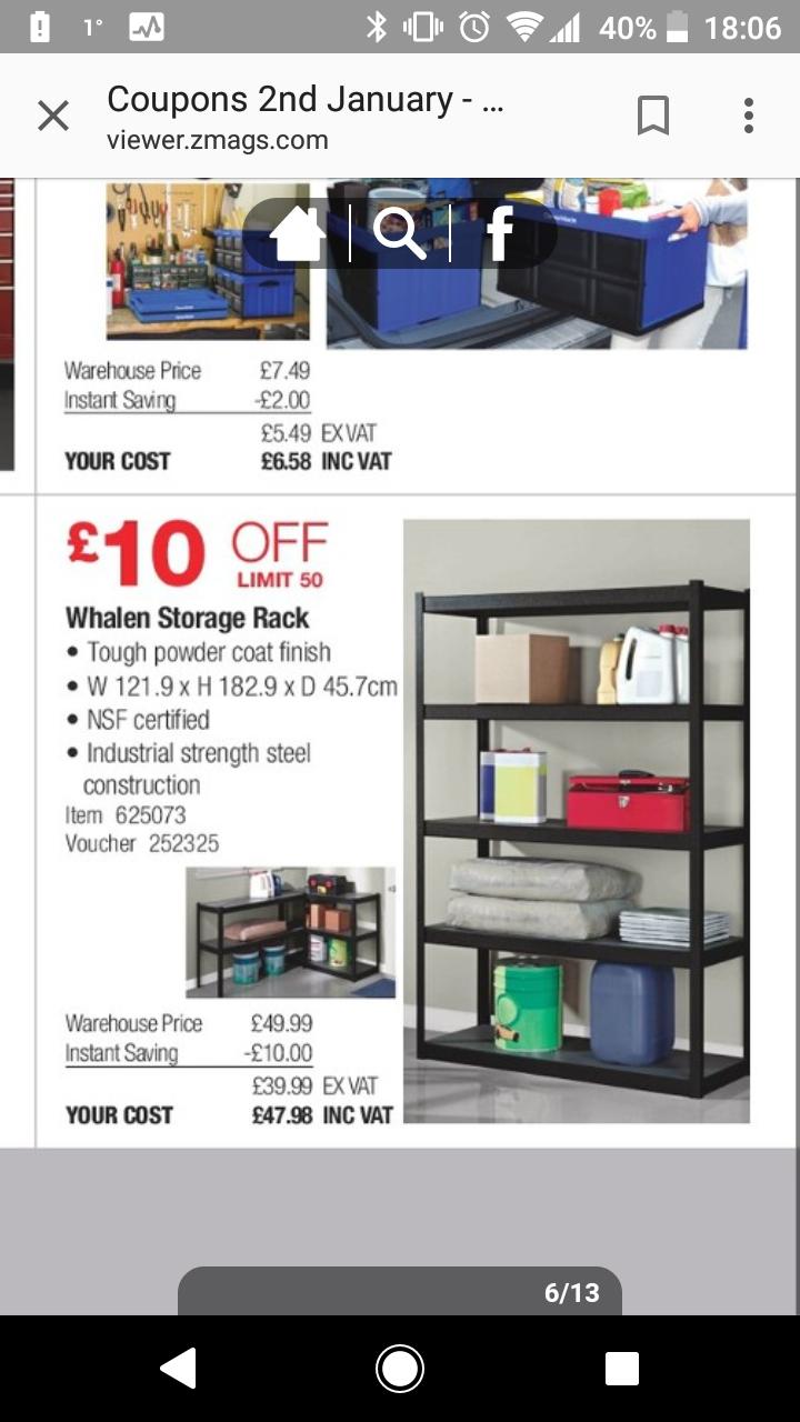 Whalen Shelving £47.98 @ Costco